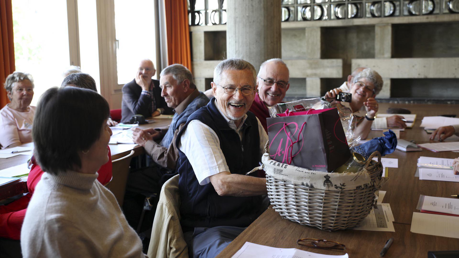 Lausanne le 25 mai 2016. Assemblée générale du MCR. Lucien Maystre a démissionné après 16 ans passés dans le mouvement. (Photo: Bernard Hallet)