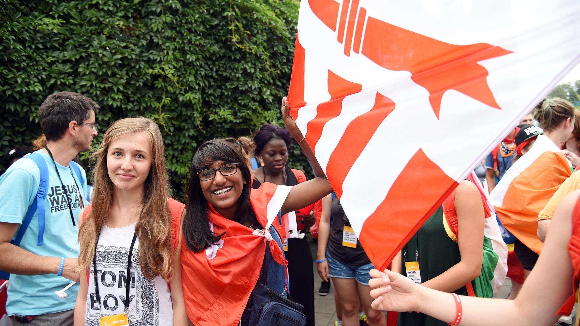 Plus de 40 jeunes du Jura Pastoral ont fait le voyage à Cracovie (Photo: Pierre Pistoletti)