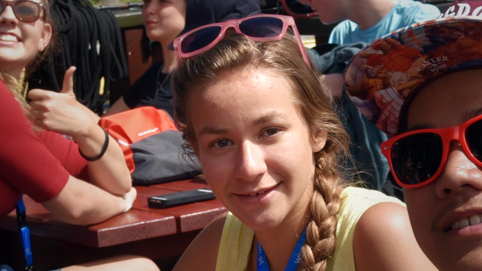 Anne, 23 ans, à Koszalin (PL), le 21 juillet 2016 (Photo: Raphaël Zbinden)