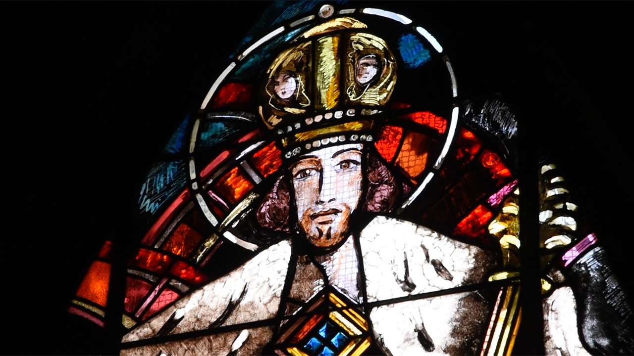 Vitrail du Christ-Roi, église Saint-Martin de Lutry, Alexandre Cingria (Photo: Pierre Pistoletti)