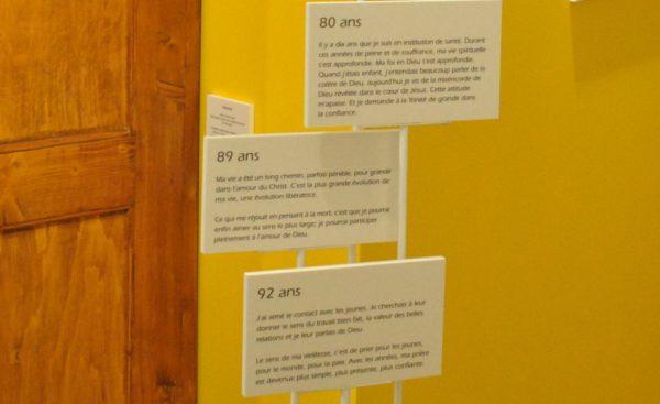 Les témoignages forts des Soeurs aînées parsèment l'exposition (Photo:Raphaël Zbinden)