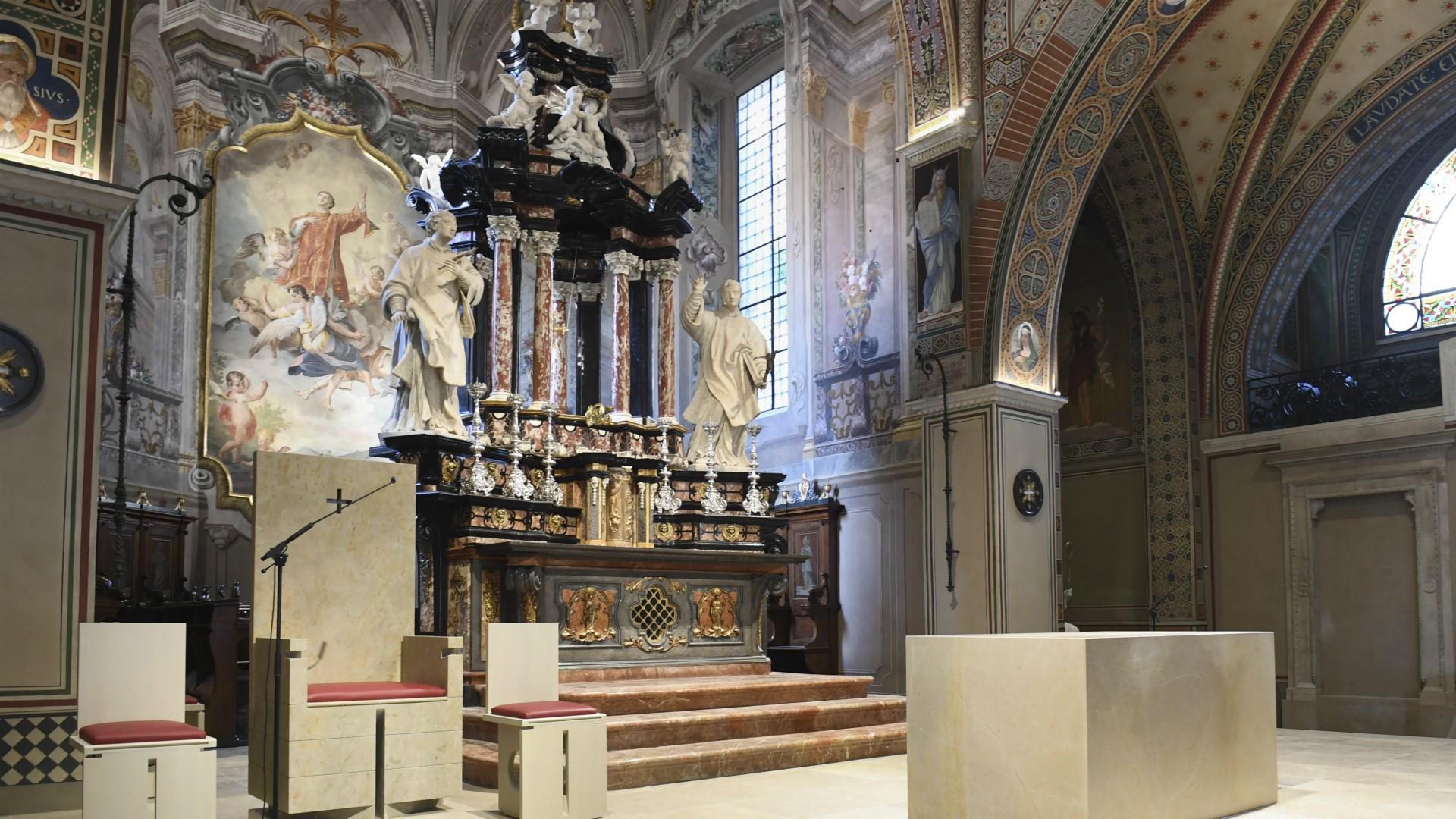 Interior de la catedral de Lugano