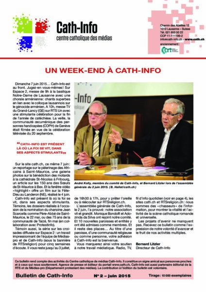 Un week-end à Cath-Info